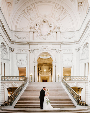 SAN FRANCISCO CITY HALL INTIMATE WEDDING