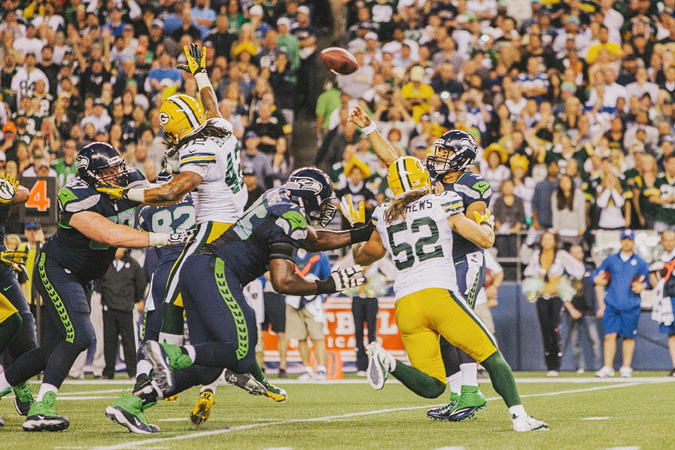 SEAHAWKS-PACKERS-72 MONDAY NIGHT FOOTBALL